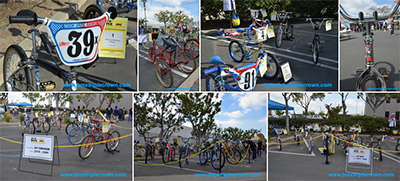 Photos of bike entries at the BMX Triple Crown April 6, 2019 show